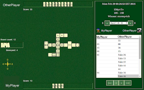 Dominoes Game Viewer - Example